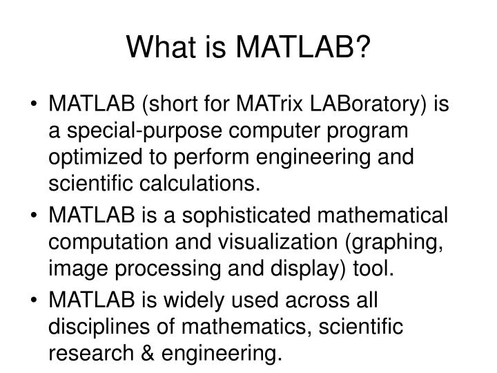 What is matlab