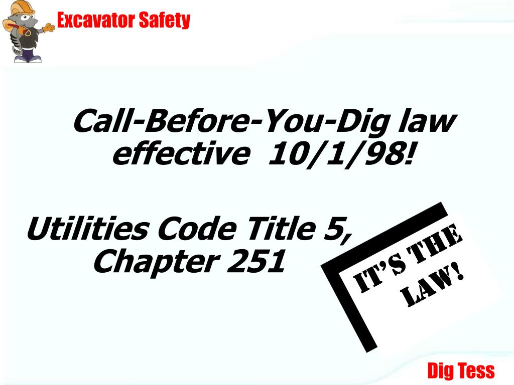 ppt - texas excavation safety system presents    powerpoint presentation