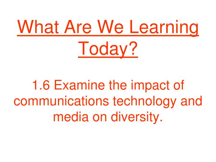 what are we learning today n.