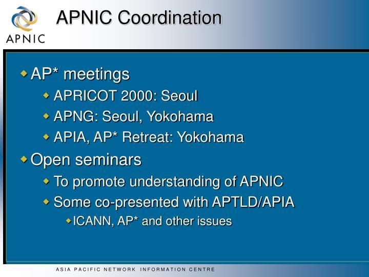 APNIC Coordination