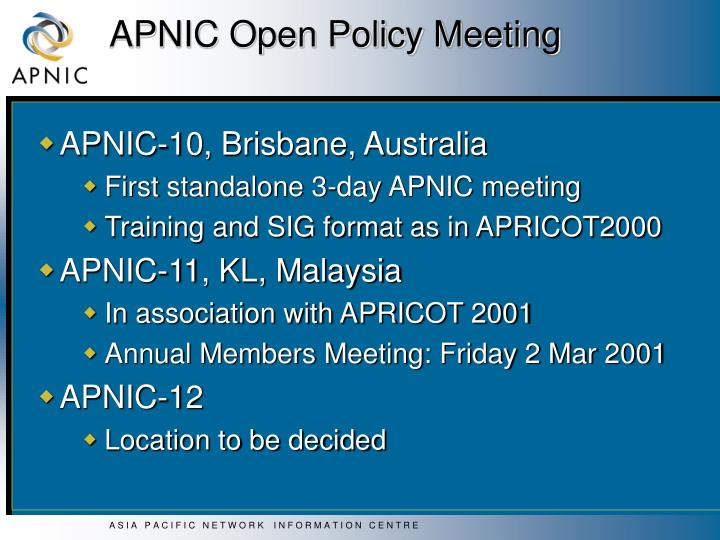 APNIC Open Policy Meeting