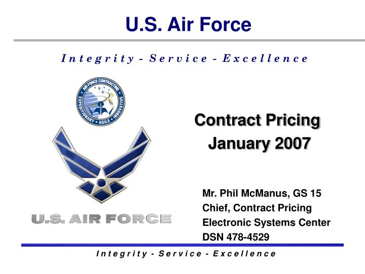 Contract pricing january 2007