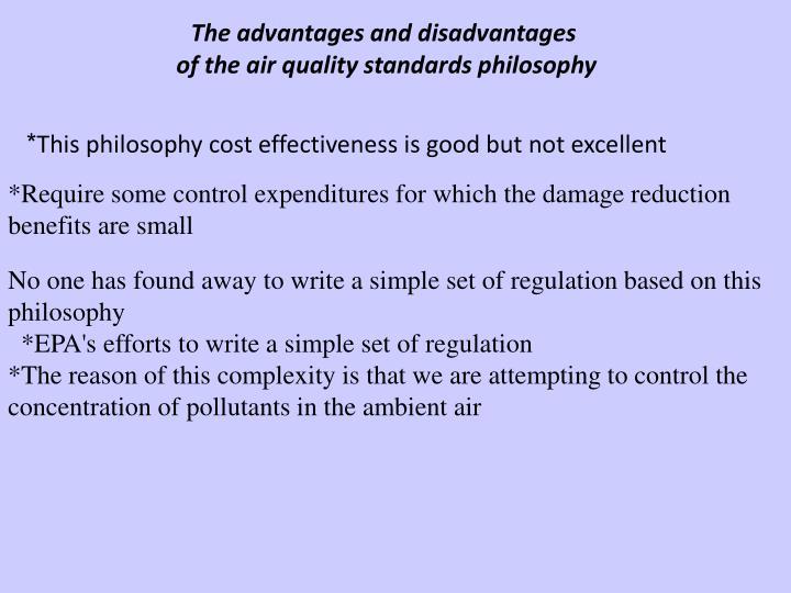The advantages and disadvantages