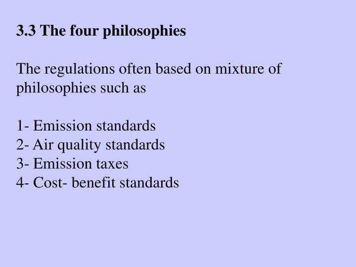 3.3 The four philosophies