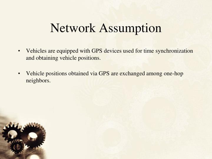 Network Assumption