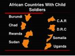 african countries with child soldiers