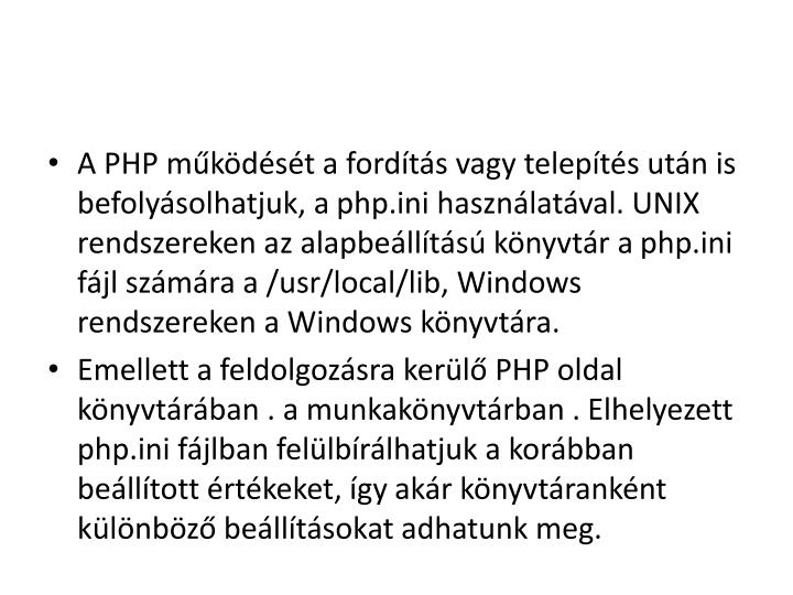 A PHP