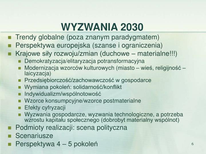 WYZWANIA 2030
