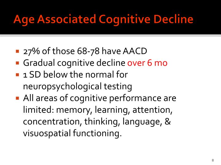 Age Associated Cognitive Decline