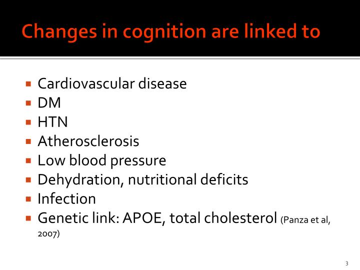 Changes in cognition are linked to