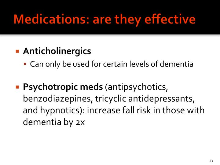 Medications: are they effective