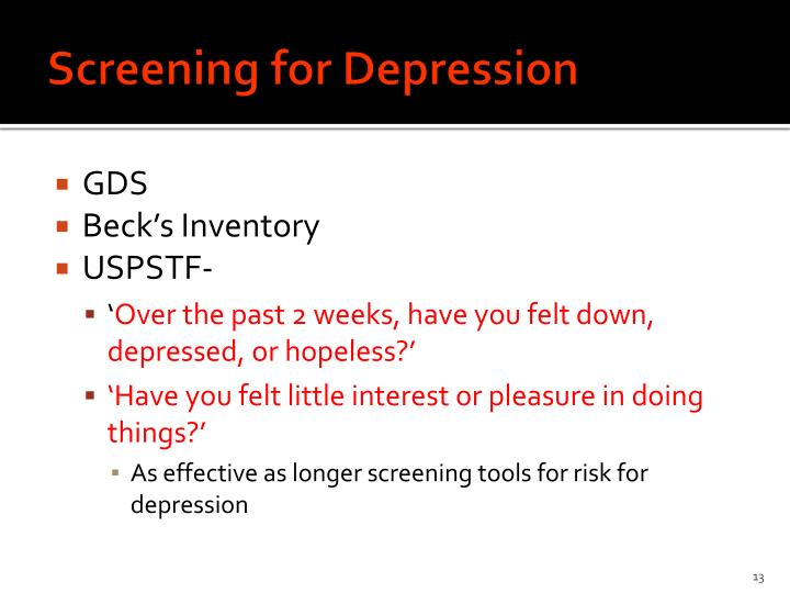 Screening for Depression