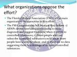 what organizations oppose the effort