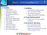 demo functionalities 1