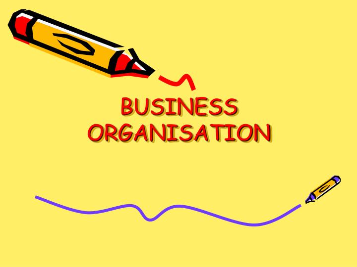 business organisation n.