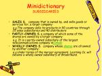 minidictionary subsidiaries