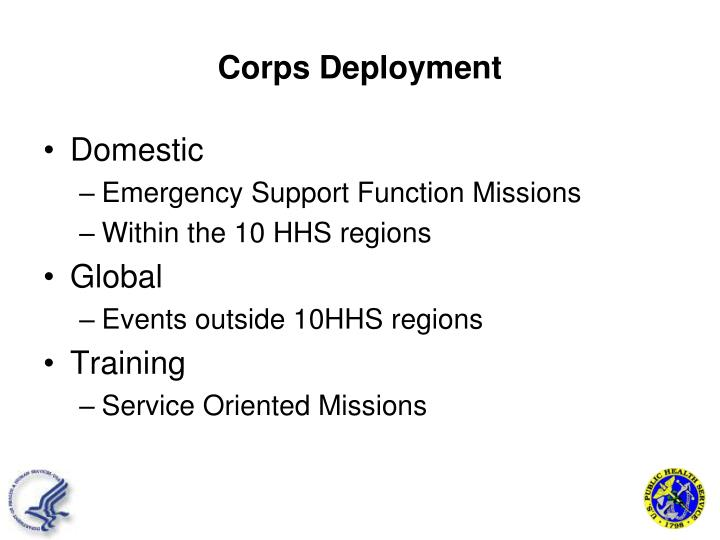 Corps Deployment