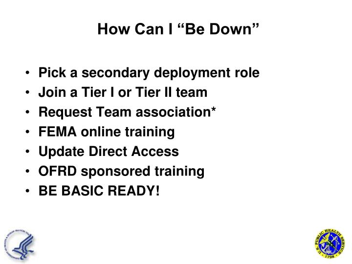 Pick a secondary deployment role