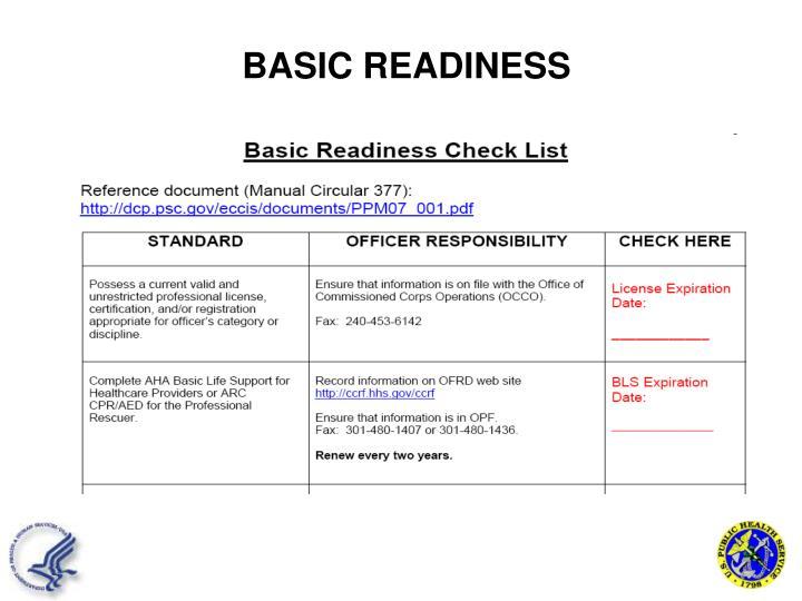 BASIC READINESS
