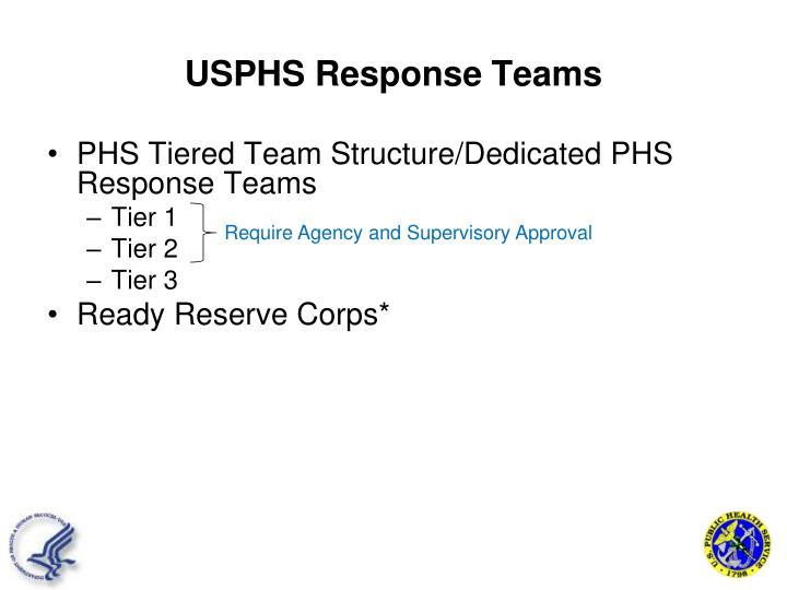 USPHS Response Teams
