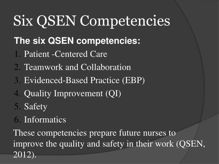 ppt - qsen powerpoint presentation