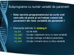 subprograme cu num r variabil de parametri1