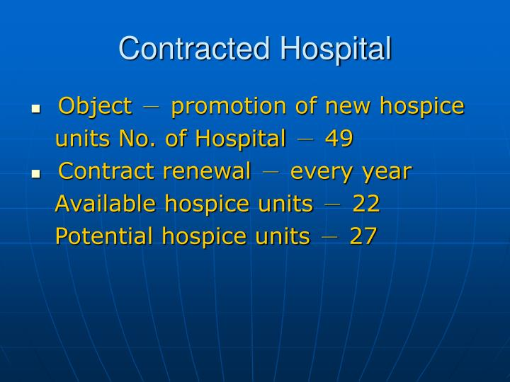 Contracted Hospital