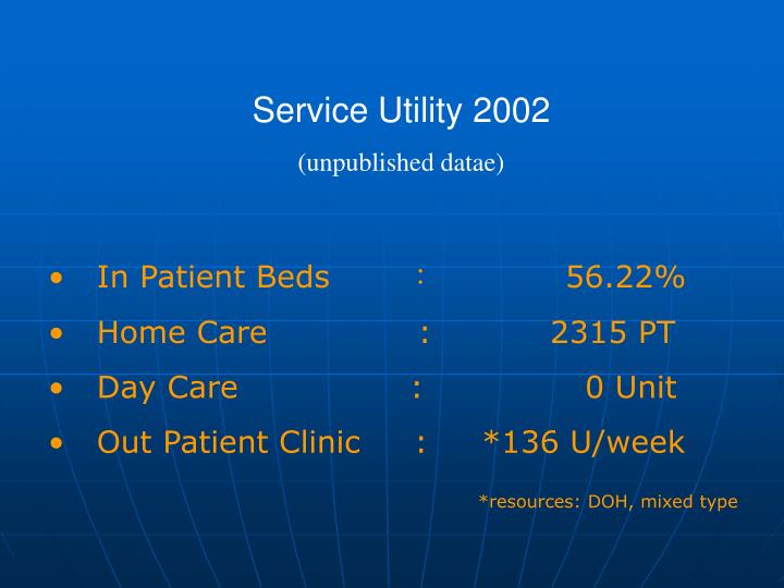 Service Utility 2002