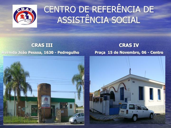 Centro de refer ncia de assist ncia social1