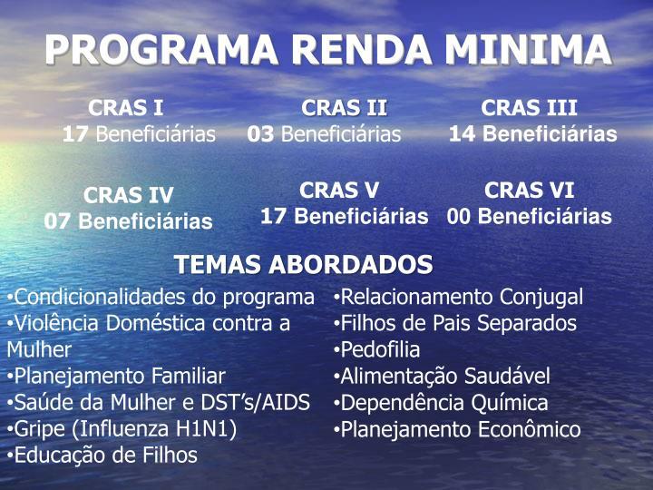 PROGRAMA RENDA MINIMA