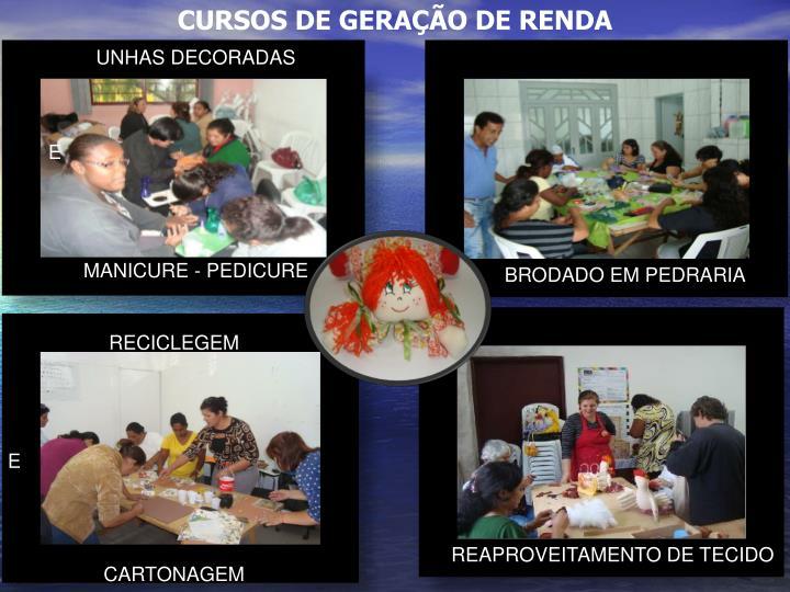 CURSOS DE GERAÇÃO DE RENDA