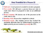state transition for a process i