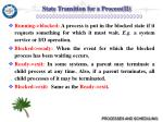 state transition for a process ii