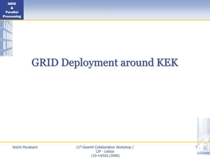 GRID Deployment around KEK