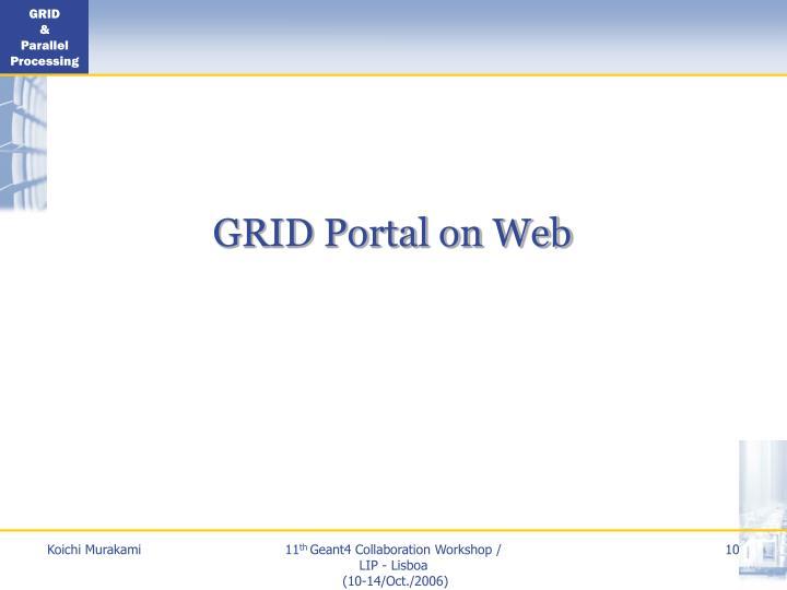 GRID Portal on Web