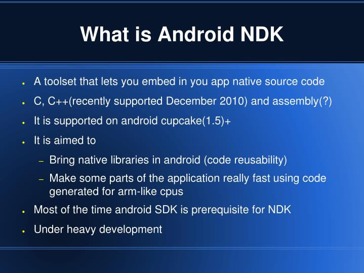 what is android ndk n.