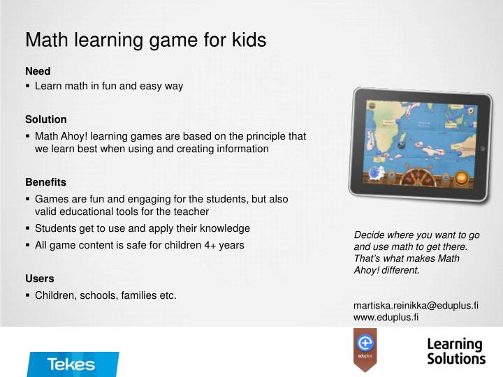 math learning game for kids n.
