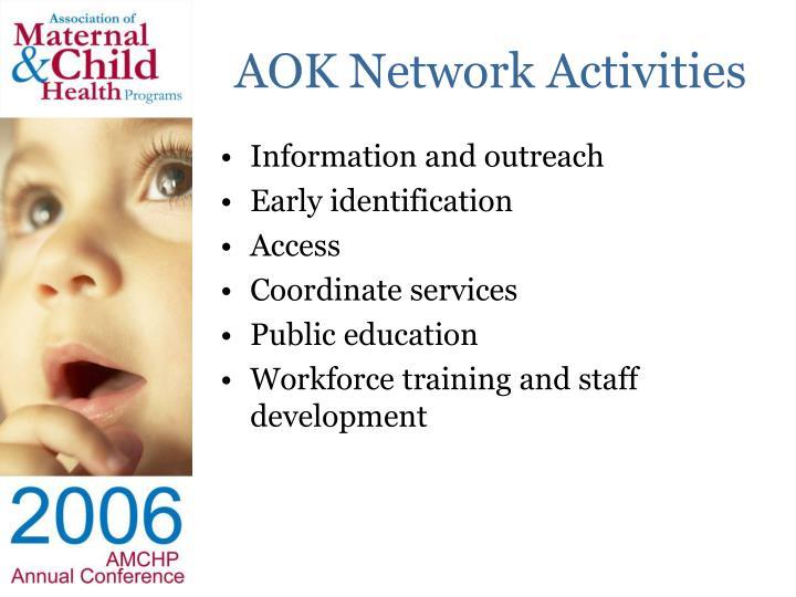 AOK Network Activities