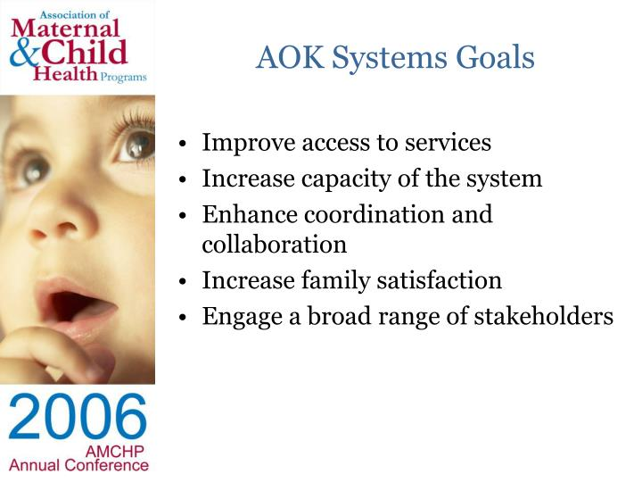 Aok systems goals