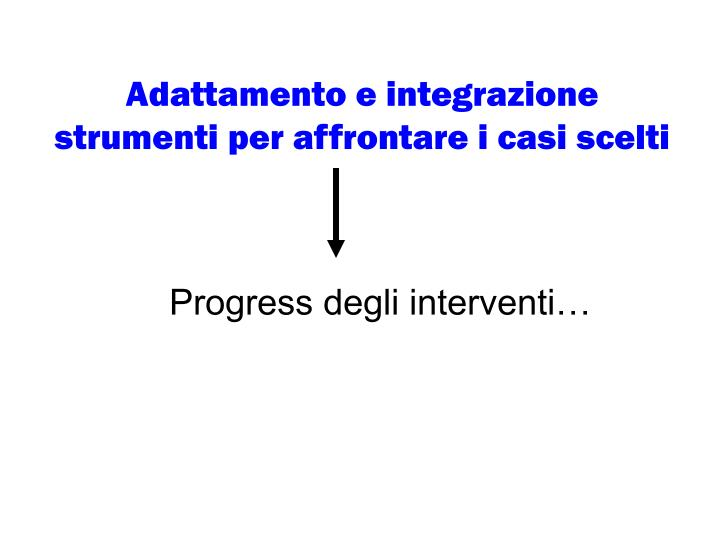 Adattamento e integrazione