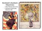 rockwell s aesthetic objectives