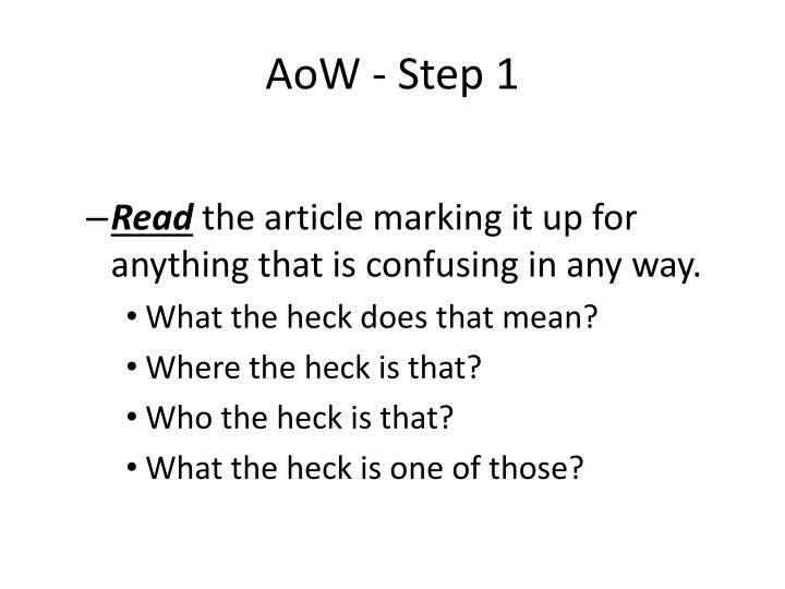 AoW - Step 1