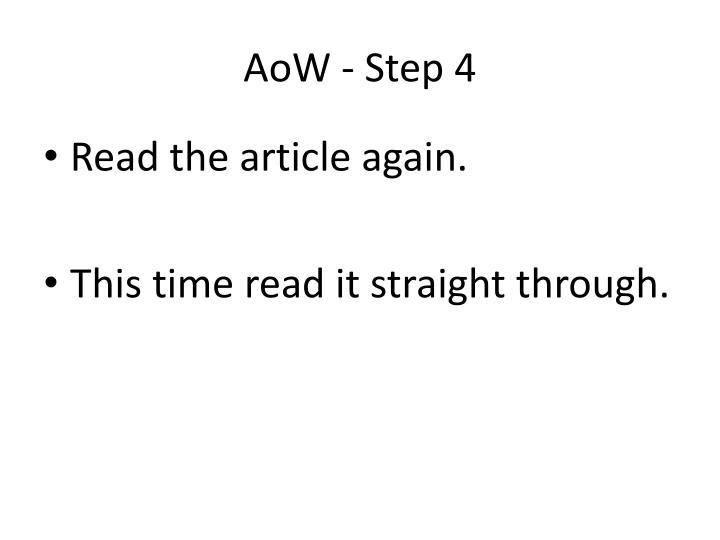 AoW - Step 4