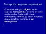 transporte de gases respirat rios