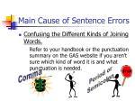 main cause of sentence errors