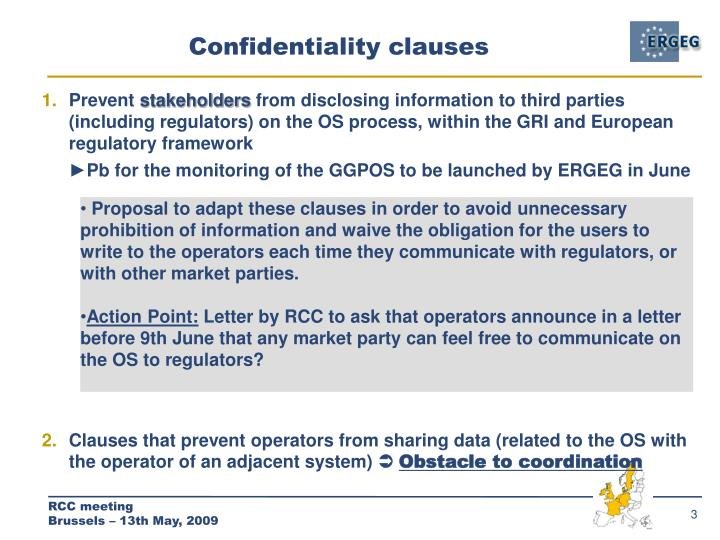 Confidentiality clauses