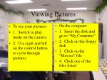 viewing pictures