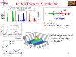 di jets triggered correlations