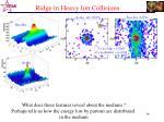 ridge in heavy ion collisions