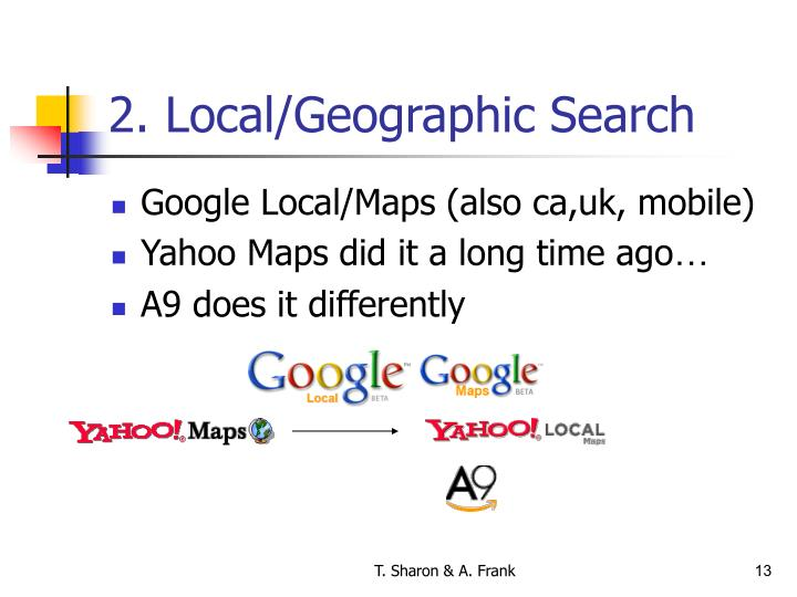 2. Local/Geographic Search